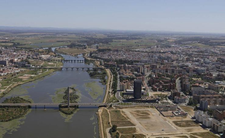 Badajoz desde el aire