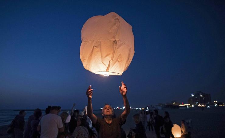 Protestas contra los cortes de electricidad en Gaza