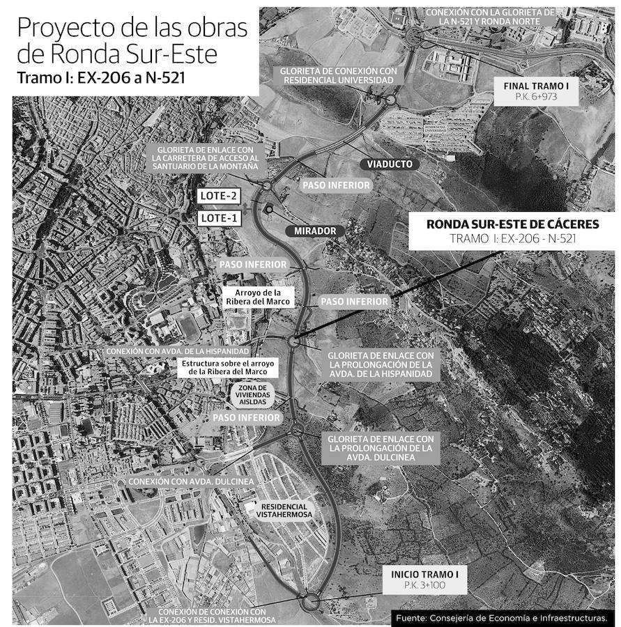 El nuevo paisaje de la Ronda Sureste de Cáceres