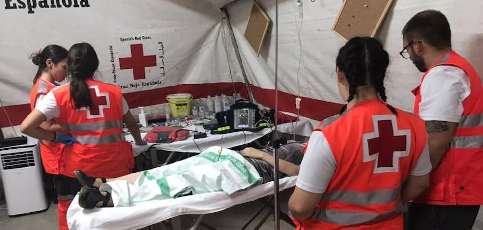 Una mujer termina en la UCI tras atragantarse en una caseta del Ferial de Badajoz