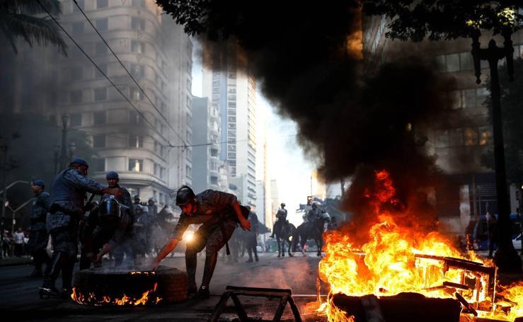 Bloqueados accesos a las principales ciudades brasileñas por huelga general
