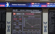 El Ibex-35 abandona otra vez los 10.600 puntos