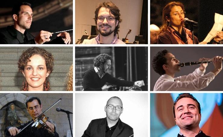 David Azagra y diez músicos más