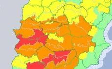 Activan la alerta roja por altas temperaturas mañana jueves en Extremadura