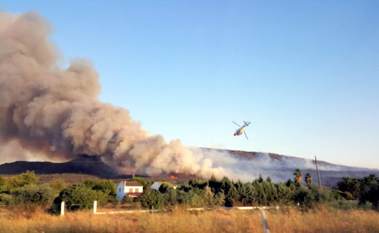 Nuevo incendio en la Sierra de Arroyo de San Serván