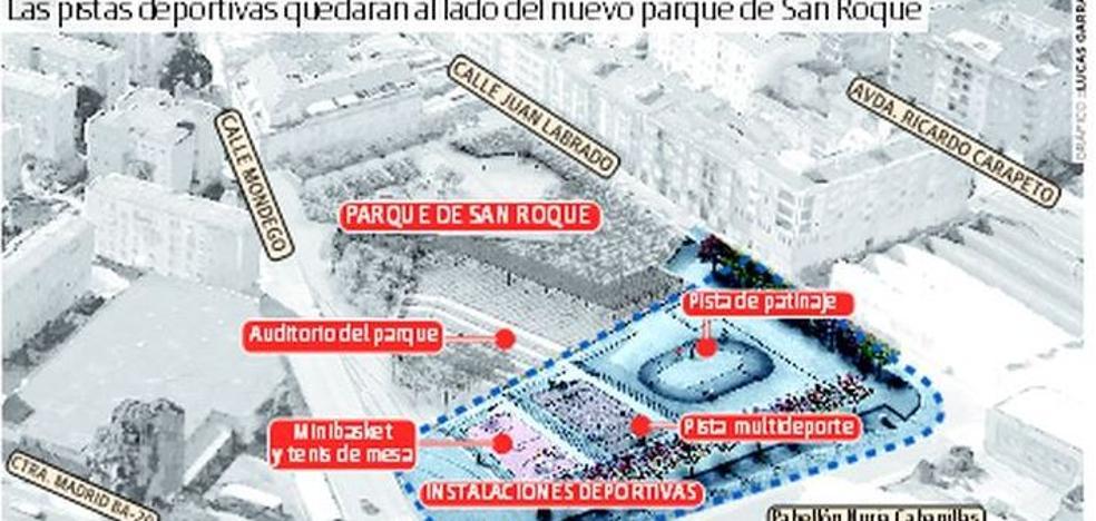 Las obras de las pistas deportivas de San Roque se inician este verano