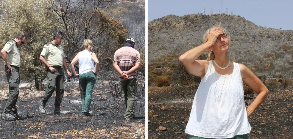 Los dueños de las fincas afectadas por el fuego de la sierra de San Serván evalúan los daños