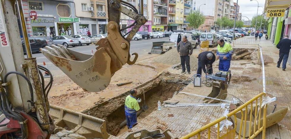 El colector de aguas residuales de Ricardo Carapeto, en Badajoz, se renovará este año