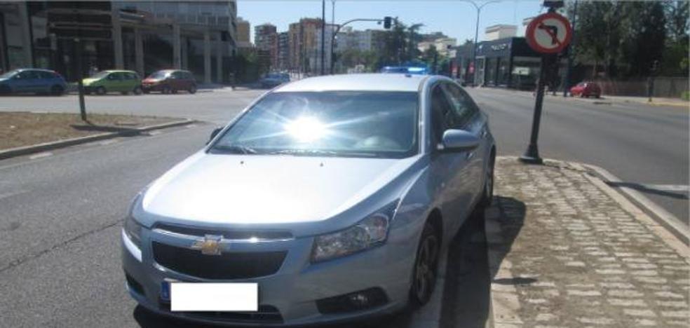 La Policía interviene el carné a un conductor tras sufrir un accidente en Badajoz