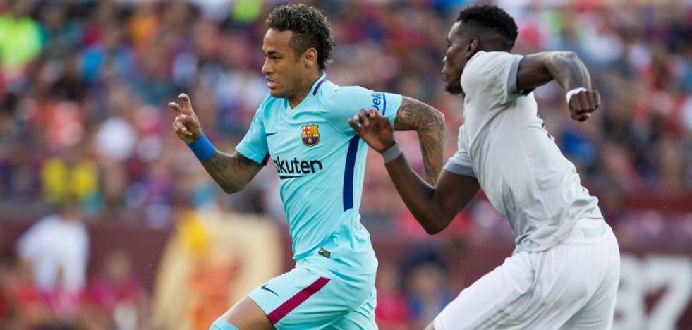 Neymar da al Barcelona la victoria contra el United de Mourinho