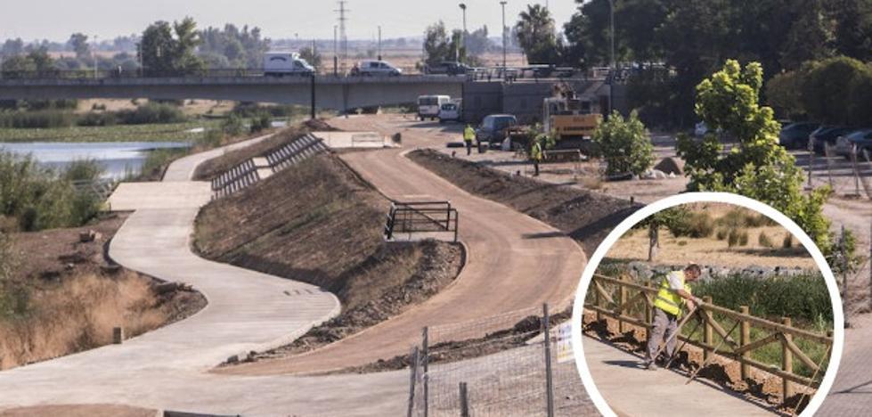 El parque de la margen izquierda del Guadiana abrirá a finales de otoño