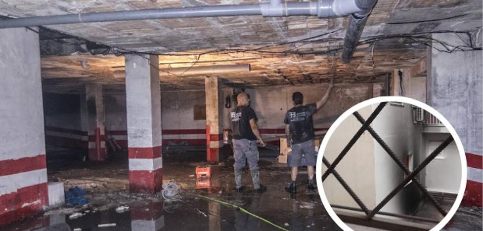 Los vecinos afectados por el incendio en Ortega Muñoz pasarán el verano sin cochera