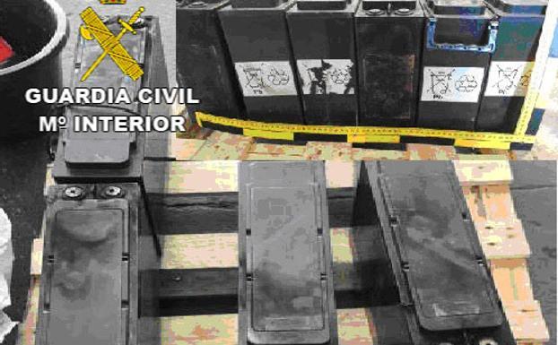 Batería recuperadas por la Guardia Civil
