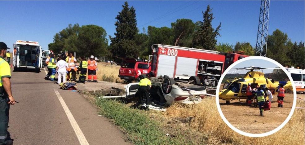 Una mujer fallecida y dos heridos graves en un accidente en Alvarado