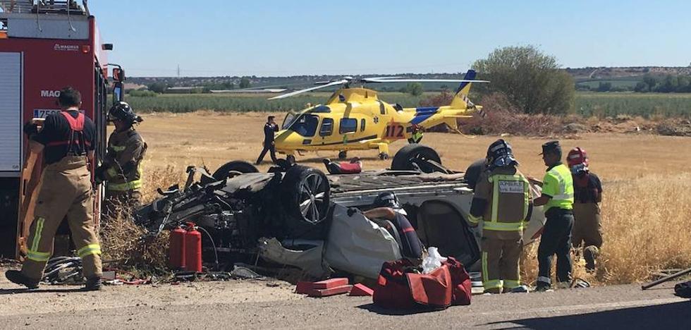 El coche del accidente mortal de Alvarado impactó con una arqueta de hormigón