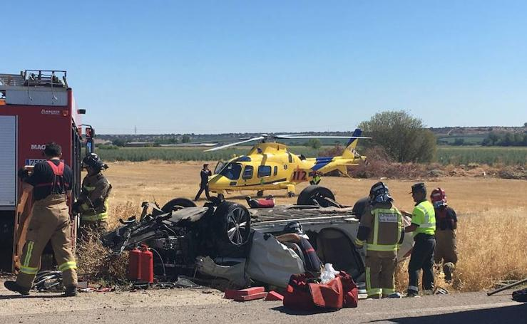 Accidente mortal en una salida de vía en la BA-22
