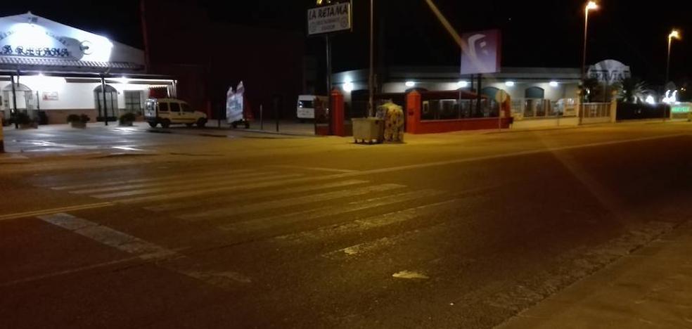 Herido grave un hombre de 70 años tras ser atropellado en un paso de peatones en Almendralejo