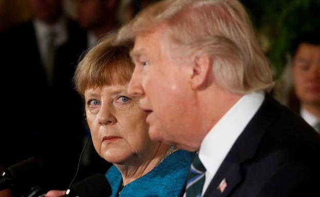 Angela Merkel y Donald Trump./Reuters