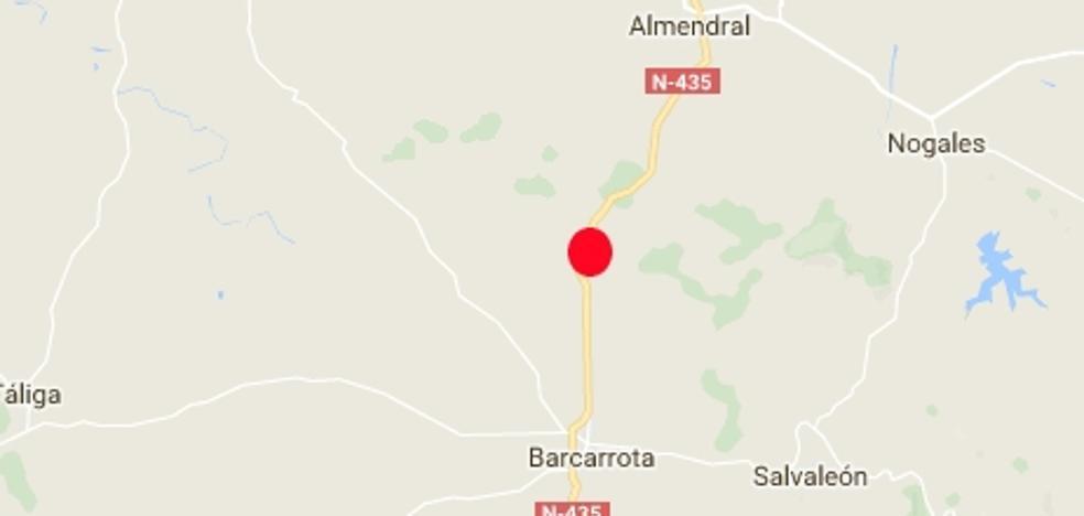 Fallece por quemaduras una mujer de 70 años en un accidente de tráfico cerca de Barcarrota