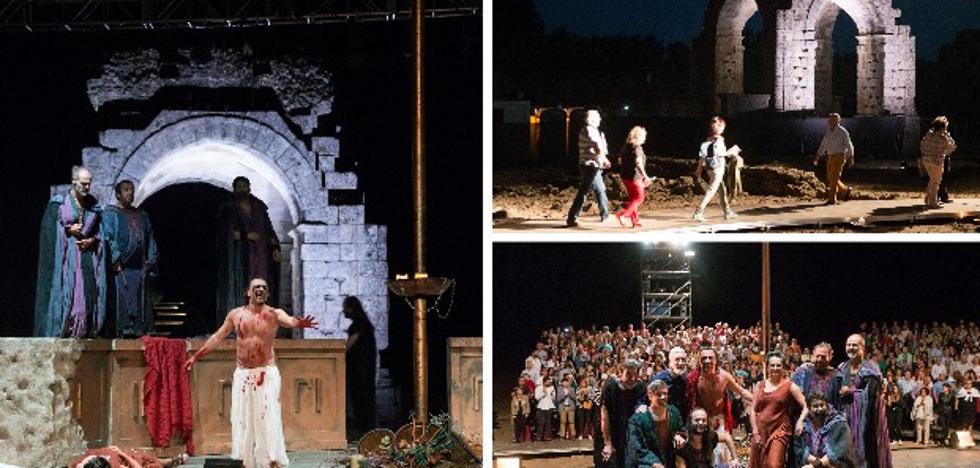 Cáparra luce elegante en su bautizo teatral
