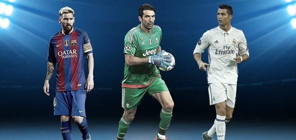 Cristiano, Messi y Buffon, candidatos a mejor jugador de la UEFA
