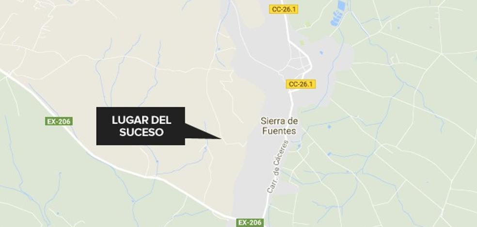 Herido un ciclista al caerse en un camino próximo a la Ermita del Risco de Sierra de Fuentes