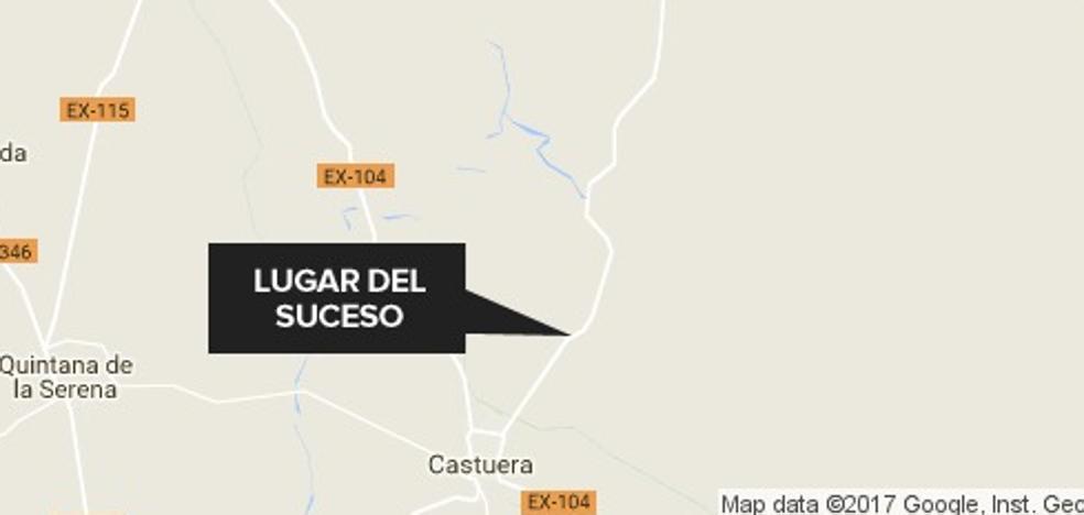 En estado crítico un joven de 23 años tras sufrir un accidente de moto en Castuera