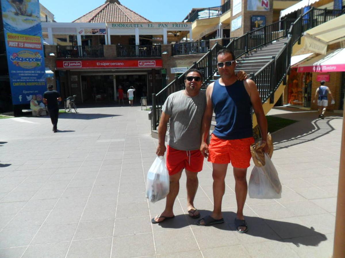 Extremeños en la playa