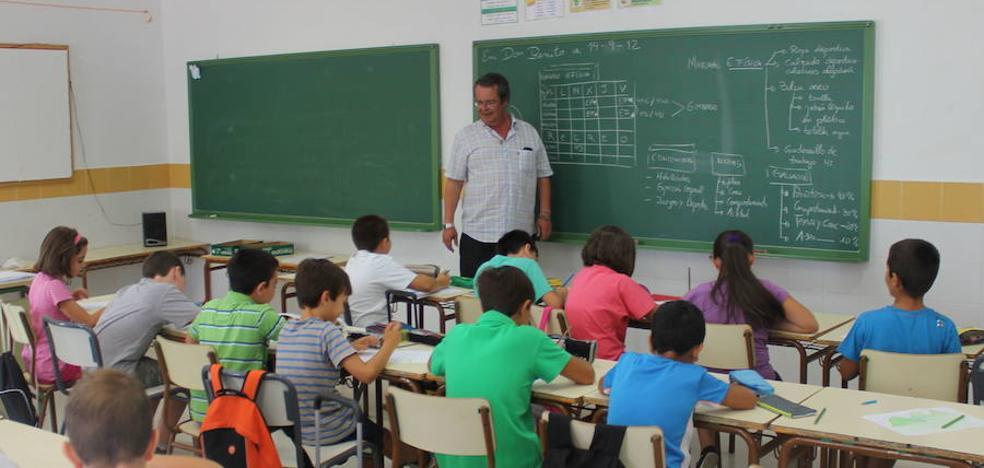 Los interinos llegarán a las aulas dos días antes de que se inicie el curso