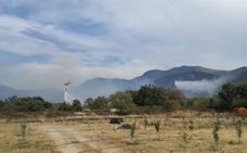 Incendio forestal en Aldeanueva del Camino