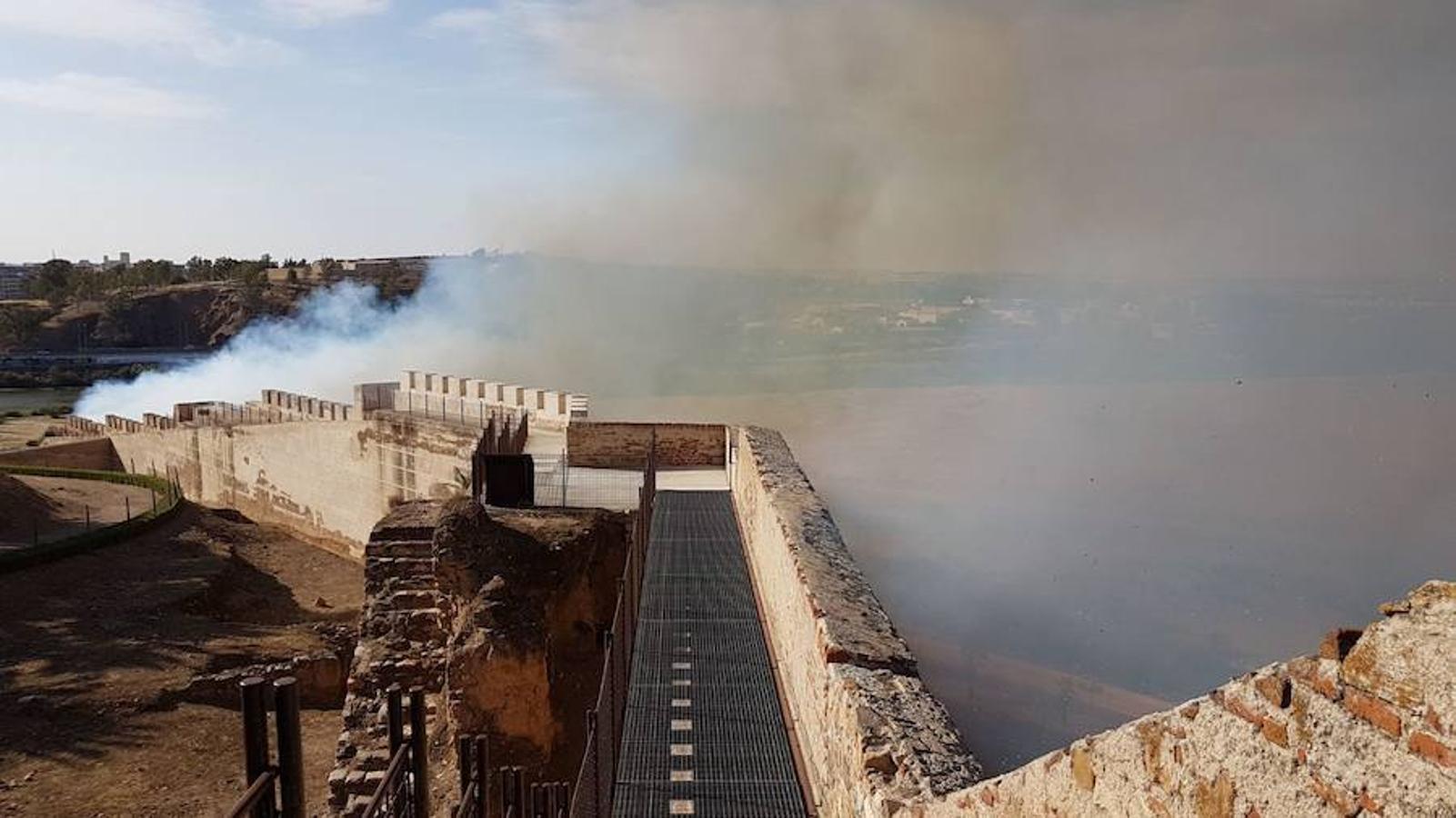 Incendio en La Alcazaba de Badajoz