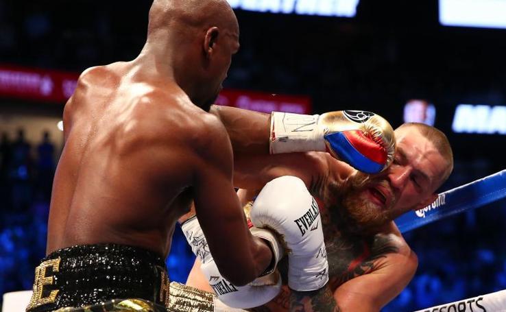 Mayweather gana la 'pelea del siglo' a McGregor