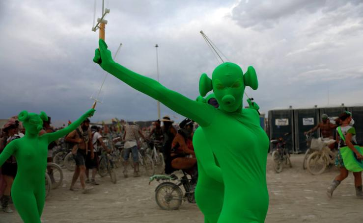 Festival Burning Man en el desierto de Black Rock