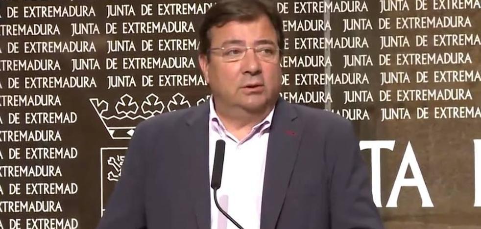 El presidente extremeño enmarca en la «normalidad» la comparecencia de Rajoy para hablar sobre el caso Gürtel