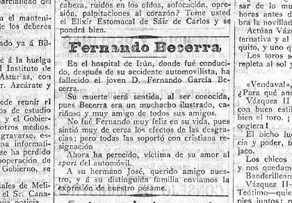 El cacereño que no fue el primer muerto por accidente en España