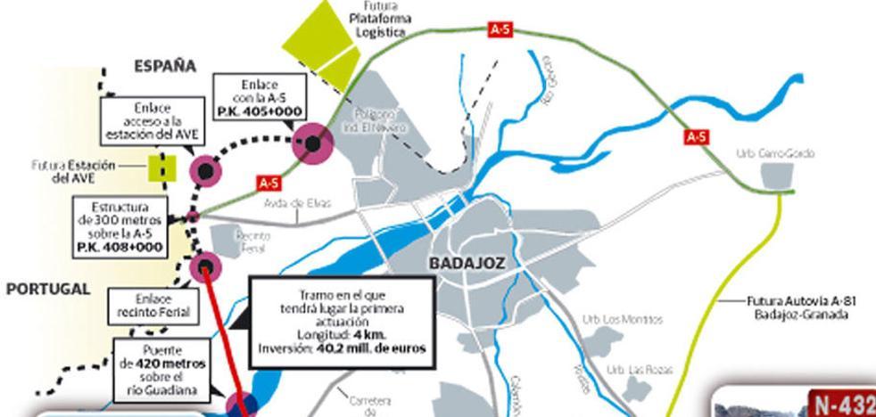Adjudicadas las obras del tercer tramo de la Ronda Sur de Badajoz por 27,9 millones de euros