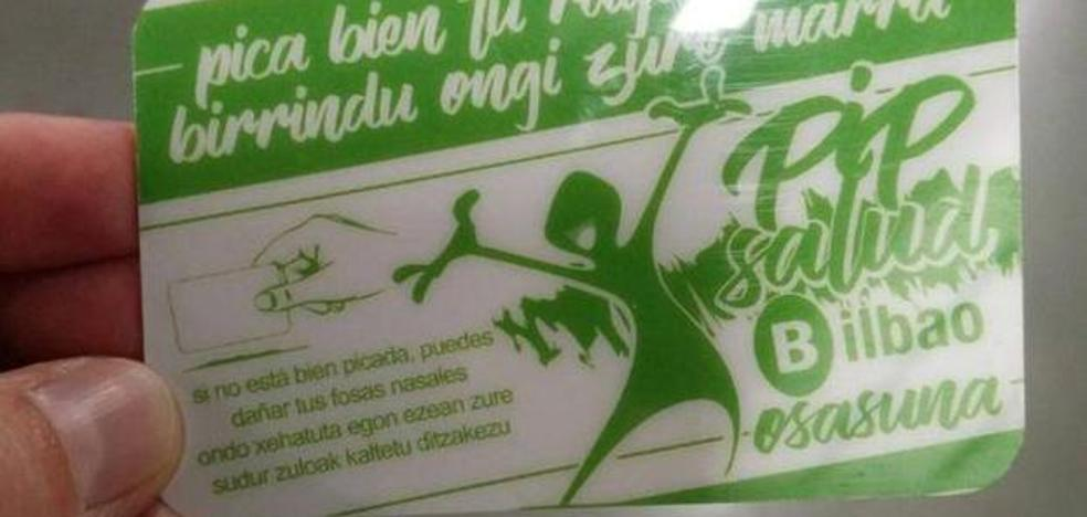 «Pica bien tu raya»: consejos del Ayuntamiento de Bilbao a los consumidores de droga