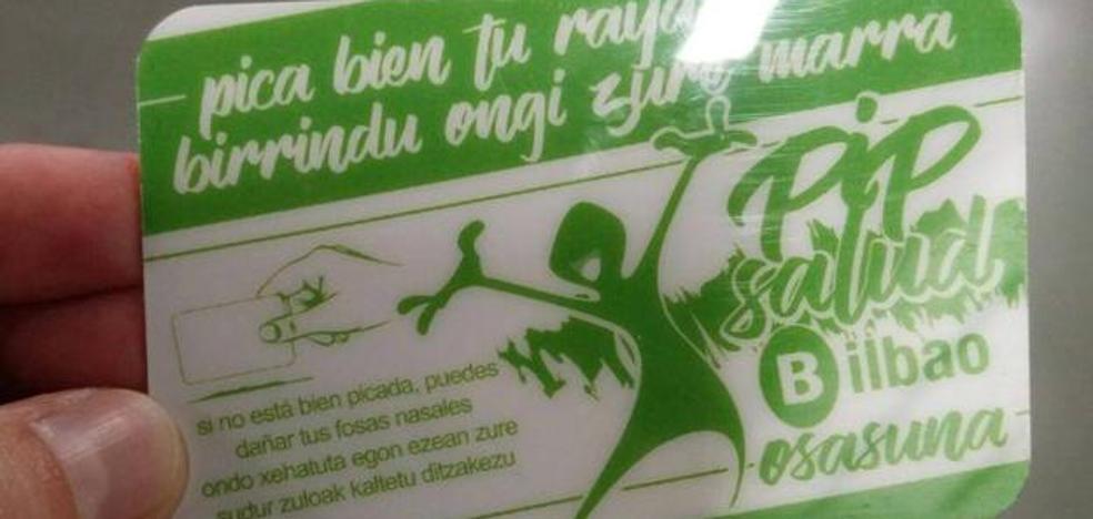El Ayuntamiento de Bilbao suspende la entrega del kit que aconseja cómo esnifar bien la droga