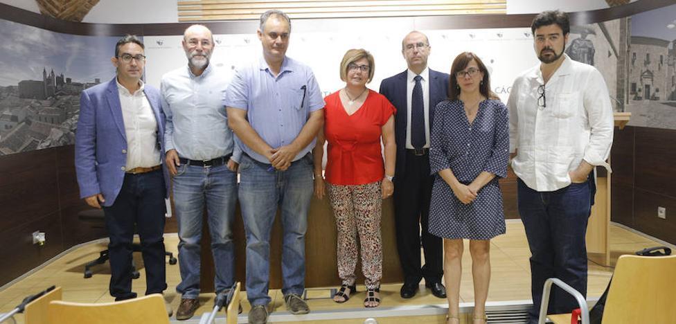 Dos personas con diversidad funcional comienzan a trabajar de ordenanzas en la Diputación de Cáceres