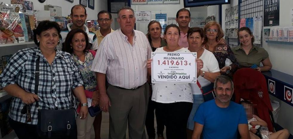 La Primitiva deja un premio de más de 1,4 millones en Guareña