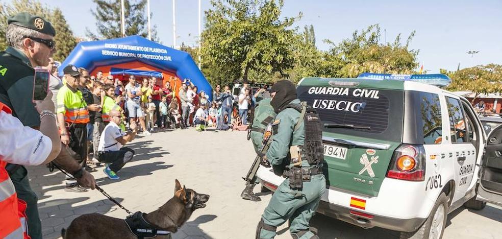 Demostración de medios de emergencias en el Rodeo