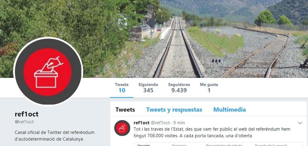La Generalitat pone en marcha un canal de Twitter del referéndum