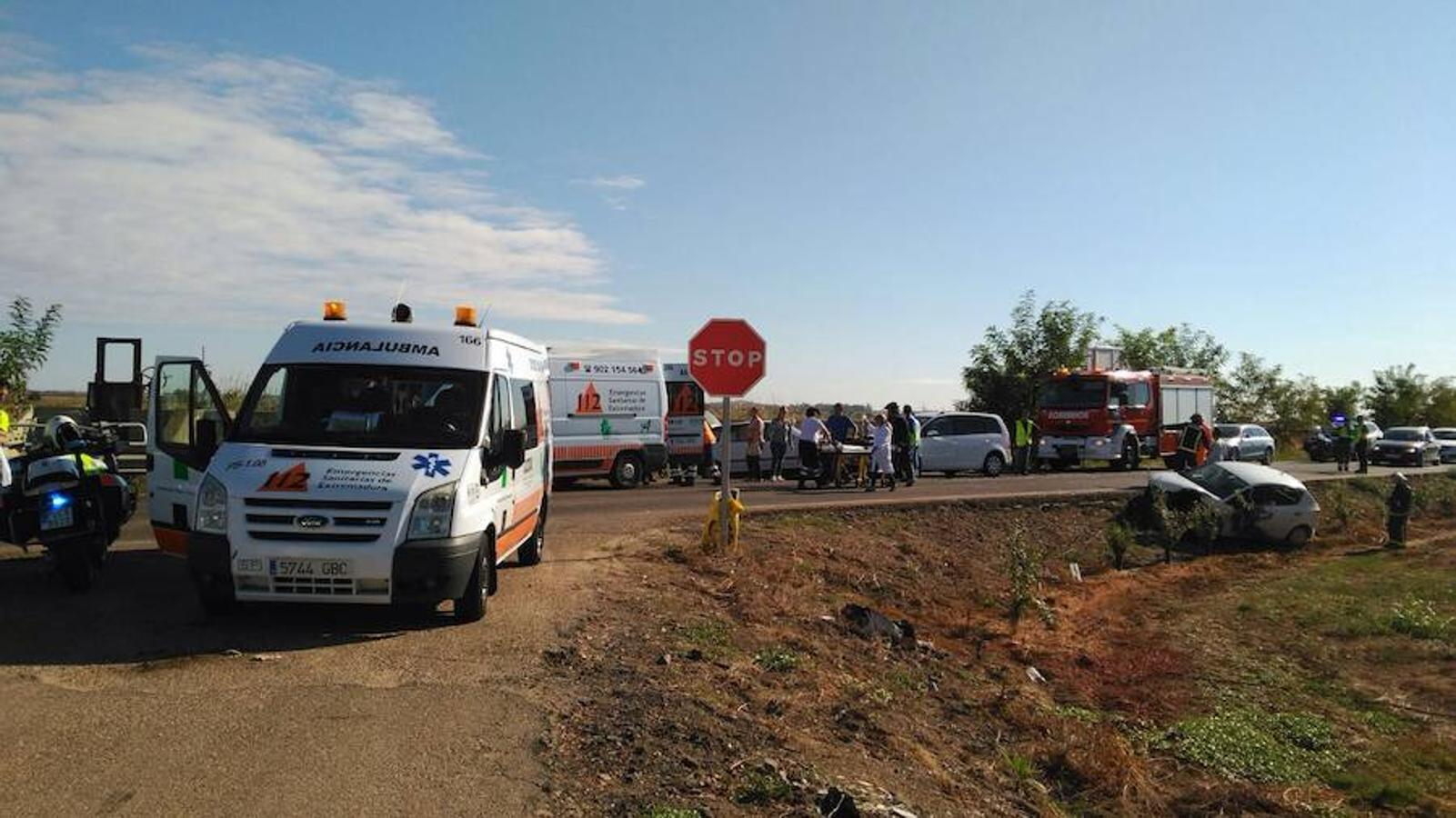 Accidente cerca de Montijo