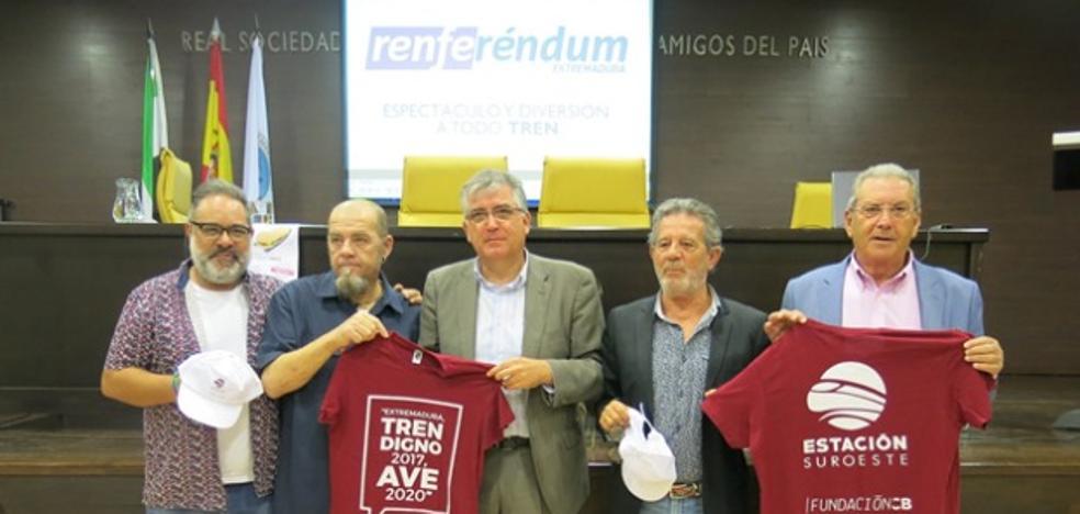 Badajoz vota este sábado en un referéndum simbólico y festivo por un tren digno