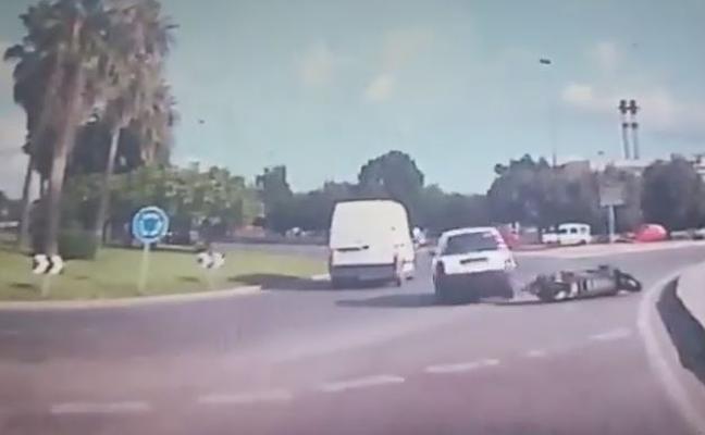 Motorista atrapado