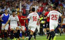 Navas da el cuarto triunfo seguido al Sevilla en la vuelta de un increpado Vitolo