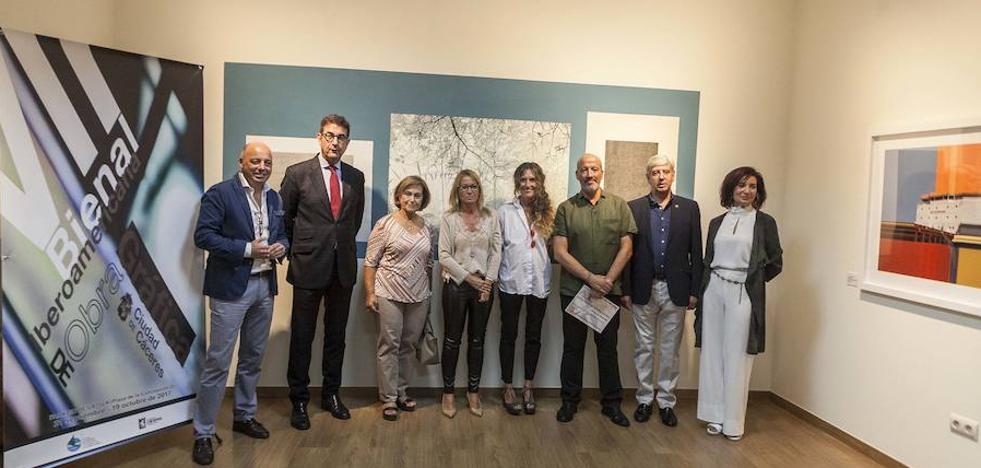 Los mapas mentales de Lou Germain, primer premio de la Bienal de Grabado de Cáceres