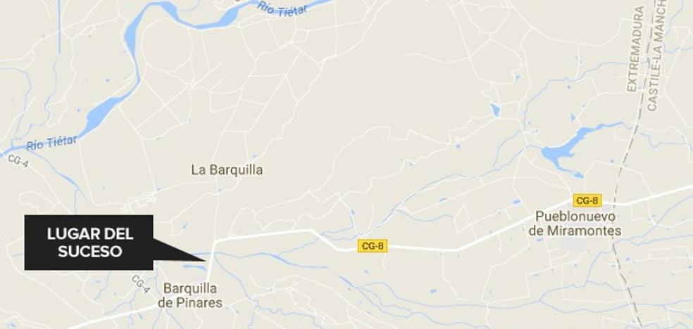 Se amputa varios dedos de una mano en un accidente laboral cerca de Barquilla de Pinares
