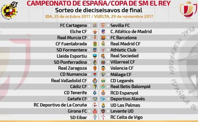 Murcia-Barça y Fuenlabrada-Real Madrid, en dieciseisavos