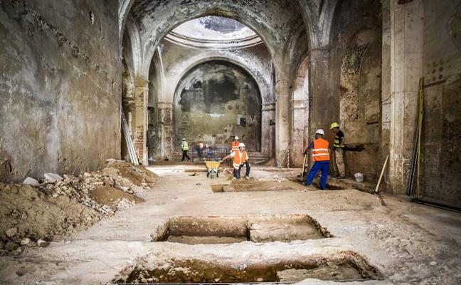 Paran las obras de Santa Catalina por el interés de los restos arqueológicos